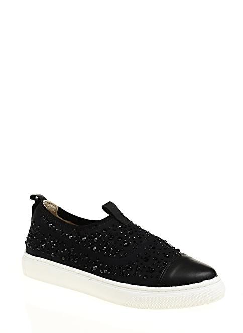 Stoneblue %100 Deri Casual Ayakkabı Siyah
